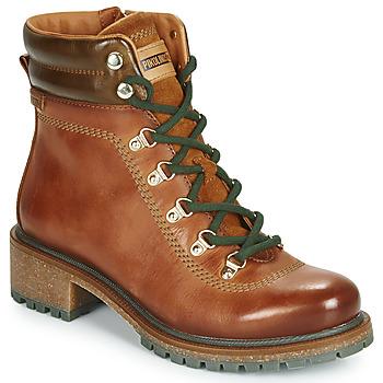 Sapatos Mulher Botas baixas Pikolinos ASPE W9Z Castanho