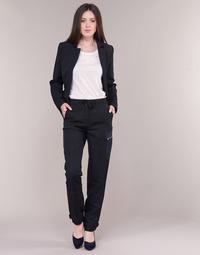 Textil Mulher Calça com bolsos G-Star Raw FELDSPAR HIGH STRAIGHT CARGO Marinho