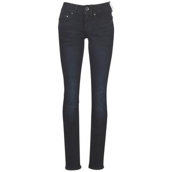 Textil Mulher Calças Jeans G-Star Raw MIDGE MID STRAIGHT WMN Azul / Escuro