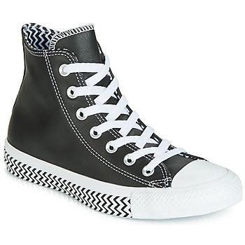 Sapatos Mulher Sapatilhas de cano-alto Converse CHUCK TAYLOR ALL STAR VLTG LEATHER HI Preto