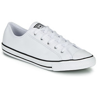 Sapatos Mulher Sapatilhas Converse CHUCK TAYLOR ALL STAR DAINTY GS  LEATHER OX Branco