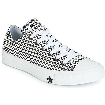 Sapatos Mulher Sapatilhas Converse CHUCK TAYLOR ALL STAR VLTG LEATHER OX Branco / Preto