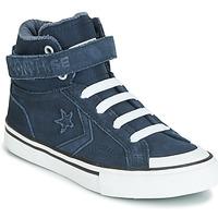 Sapatos Criança Sapatilhas de cano-alto Converse PRO BLAZE STRAP SPACE RIDE SUEDE HI Azul