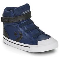 Sapatos Criança Sapatilhas de cano-alto Converse PRO BLAZE STRAP MARTIAN LEATHER HI Azul / Preto