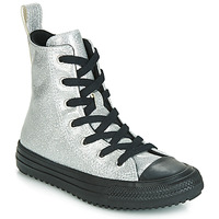 Sapatos Rapariga Sapatilhas de cano-alto Converse CHUCK TAYLOR ALL STAR BOOT COATED GLITTER  HI Prata