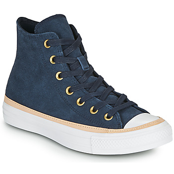 Sapatos Mulher Sapatilhas de cano-alto Converse CHUCK TAYLOR ALL STAR VACHETTA LEATHER HI Marinho