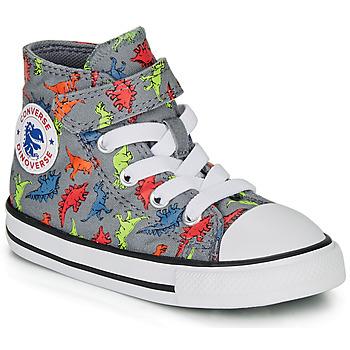 Sapatos Rapaz Sapatilhas de cano-alto Converse CHUCK TAYLOR ALL STAR 1V DINOVERSE HI Cinza
