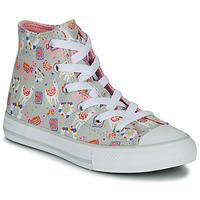 Sapatos Rapariga Sapatilhas de cano-alto Converse CHUCK TAYLOR ALL STAR LLAMA HI Cinza / Multicolor