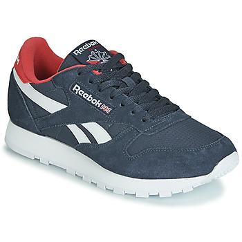 Sapatos Sapatilhas Reebok Classic CL LEATHER MU Marinho / Vermelho