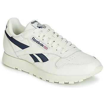Sapatos Sapatilhas Reebok Classic CL LEATHER MU Branco / Preto