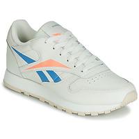 Sapatos Mulher Sapatilhas Reebok Classic CL LTHR Bege / Azul / Laranja
