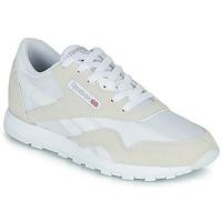 Sapatos Criança Sapatilhas Reebok Classic CL NYLON J Branco / Bege