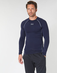 Textil Homem T-shirt mangas compridas Under Armour HEATGEAR ARMOUR LS COMPRESSION Marinho