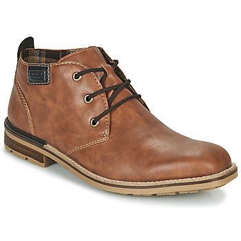 Sapatos Homem Botas baixas Rieker BELAM Castanho