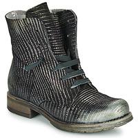 Sapatos Mulher Botas baixas Papucei MAURA BLACK SILVER Preto
