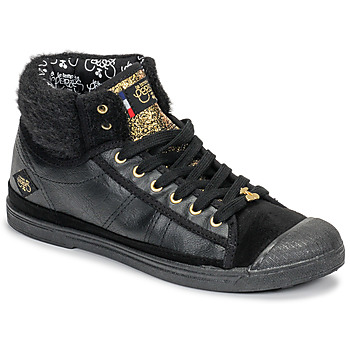 Sapatos Mulher Sapatilhas de cano-alto Le Temps des Cerises BASIC 03 Preto