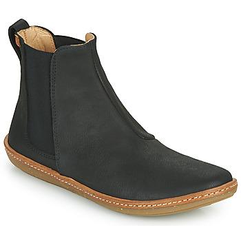 Sapatos Mulher Botas baixas El Naturalista CORAL Preto