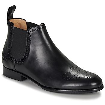Sapatos Mulher Botas baixas Melvin & Hamilton SALLY Preto