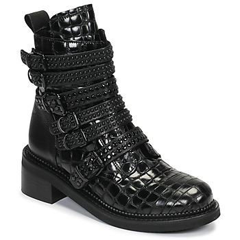 Sapatos Mulher Botas baixas Mimmu RIPTILUS Preto