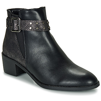 Sapatos Mulher Botas baixas Moony Mood FLOURETTE Preto