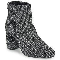 Sapatos Mulher Botins Moony Mood FRIPON Preto / Branco