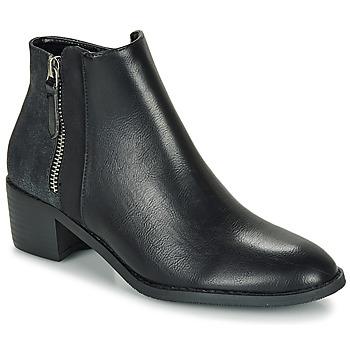 Sapatos Mulher Botas baixas Moony Mood FALINE Preto