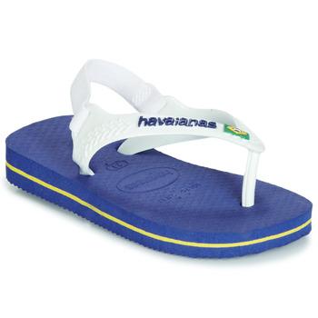 Sapatos Criança Chinelos Havaianas BABY BRASIL LOGO Marinho