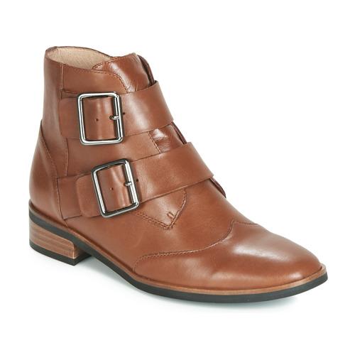 Sapatos Mulher Botas baixas Karston JIRONO Castanho