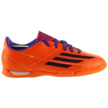 Sapatos Criança Chuteiras adidas Originals F10 IN J Cor de laranja, Roxo