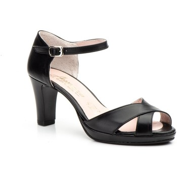 Sapatos Mulher Sandálias Annora Zapatos Zapato de piel de mujer by Annora Negro