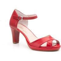 Sapatos Mulher Sandálias Annora Zapatos Zapato de piel de mujer by Annora Rouge