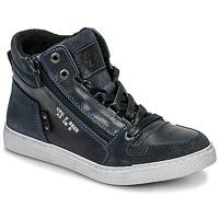 Sapatos Rapaz Sapatilhas de cano-alto Bullboxer AGM531E6L-NGBLK Marinho