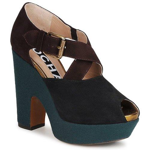 Sapatos Mulher Escarpim Rochas NINFEA Castanho / Azul