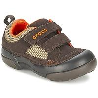 Sapatos Rapaz Sapatilhas Crocs DAWSON HOOK & LOOP Castanho