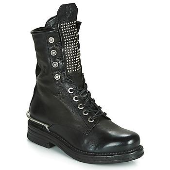 Sapatos Mulher Botas baixas Airstep / A.S.98 BRET METAL Preto