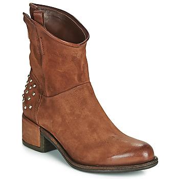 Sapatos Mulher Botas baixas Airstep / A.S.98 OPEA STUDS Camel
