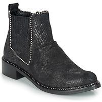 Sapatos Mulher Botas baixas Regard ROAL V1 CROSTE SERPENTE PRETO Preto