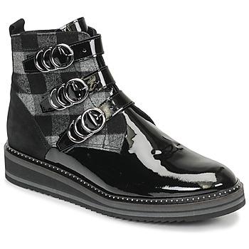 Sapatos Mulher Botas baixas Regard ROCPOL V3 VERNIS Preto