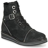 Sapatos Mulher Botas baixas Regard ROCTALY V2 CRTE SERPENTE SHABE Preto
