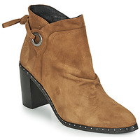 Sapatos Mulher Botins Philippe Morvan BATTLES V3 CHEV VEL Camel