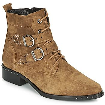 Sapatos Mulher Botas baixas Philippe Morvan SWAG V4 CRTE VEL Camel