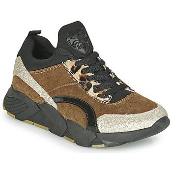 Sapatos Mulher Sapatilhas Philippe Morvan VERSO V2 GLITTER FIN Castanho / Preto