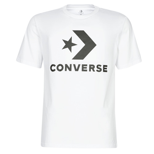 Textil Homem T-Shirt mangas curtas Converse STAR CHEVRON Branco