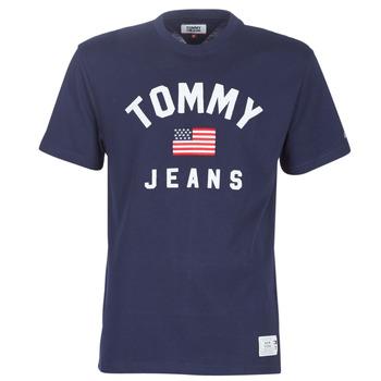 Textil Homem T-Shirt mangas curtas Tommy Jeans TJM USA FLAG TEE Marinho
