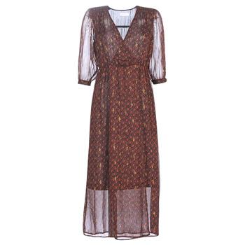 Textil Mulher Vestidos compridos See U Soon 9221839 Preto / Vermelho
