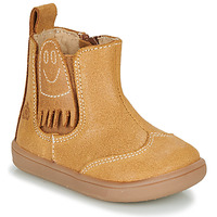 Sapatos Rapaz Botas baixas Citrouille et Compagnie LOKO Camel
