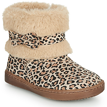 Sapatos Rapariga Botas baixas Citrouille et Compagnie LILIFA Camel / Leopardo