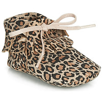Sapatos Rapariga Chinelos Citrouille et Compagnie LILIFI Camel / Leopardo