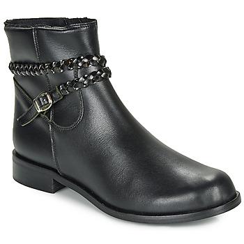Sapatos Mulher Botas baixas So Size OSCARDO Preto