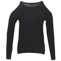 Textil Mulher camisolas Guess CUTOUT Preto